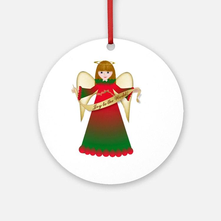 Joy to the World Christmas Ornament (Round)