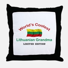 Coolest Lithuanian Grandma Throw Pillow