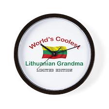 Coolest Lithuanian Grandma Wall Clock
