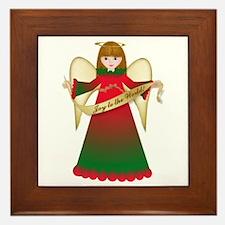 Joy to the World Christmas Framed Tile