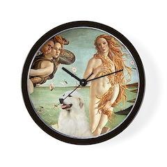 Venus / Great Pyrenees Wall Clock