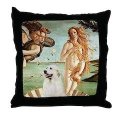 Venus / Great Pyrenees Throw Pillow