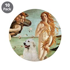 """Venus / Great Pyrenees 3.5"""" Button (10 pack)"""