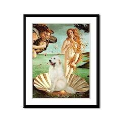 Venus / Great Pyrenees Framed Panel Print
