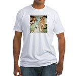 Venus / Great Pyrenees Fitted T-Shirt