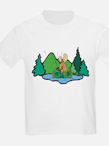 Fishing Moose T-Shirt
