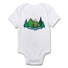 Fishing Moose Infant Bodysuit