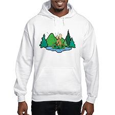 Fishing Moose Hoodie