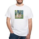 Bridge / Great Pyrenees (2) White T-Shirt