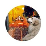 Cafe / Great Pyrenees Ornament (Round)