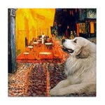 Cafe / Great Pyrenees Tile Coaster