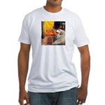 Cafe / Great Pyrenees Fitted T-Shirt