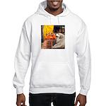 Cafe / Great Pyrenees Hooded Sweatshirt