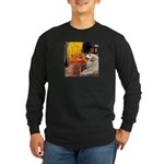 Cafe / Great Pyrenees Long Sleeve Dark T-Shirt