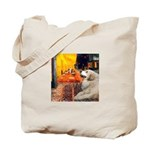 Cafe / Great Pyrenees Tote Bag