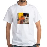 Cafe / Great Pyrenees White T-Shirt