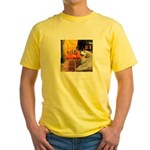 Cafe / Great Pyrenees Yellow T-Shirt
