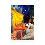 Cafe / Great Pyrenees Sticker (Rectangle 10 pk)
