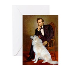 Lincoln / Great Pyrenees Greeting Cards (Pk of 10)