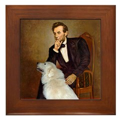 Lincoln / Great Pyrenees Framed Tile