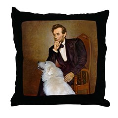 Lincoln / Great Pyrenees Throw Pillow