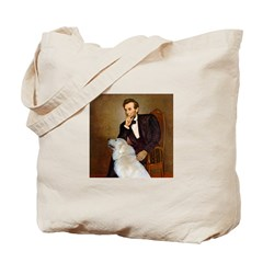 Lincoln / Great Pyrenees Tote Bag
