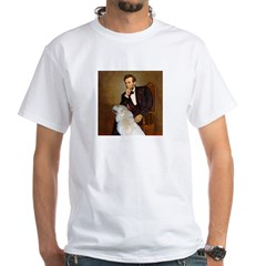 Lincoln / Great Pyrenees White T-Shirt