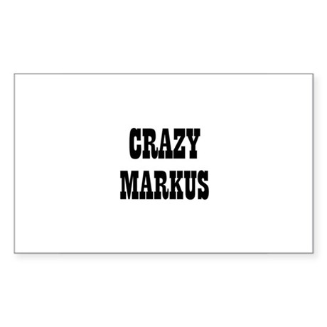 CRAZY MARKUS Rectangle Sticker