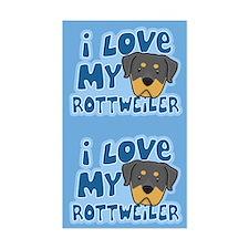 I Love my Rottweiler Sticker (2 in 1)