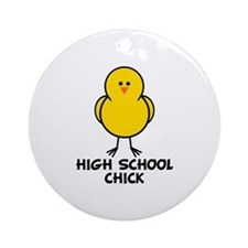 High School Chick Ornament (Round)