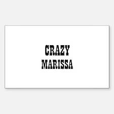 CRAZY MARISSA Rectangle Decal