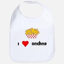 I Heart Nachos Bib