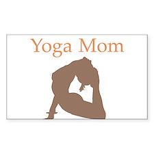 Yoga Mom Rectangle Decal