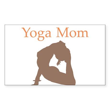Yoga Mom Rectangle Sticker