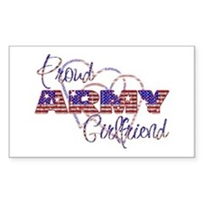 Proud ARMY Girlfriend Rectangle Decal