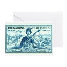 Funny Us national guard family Greeting Card
