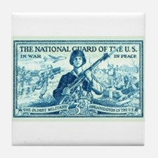 Stamp collecting Tile Coaster