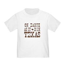 On Earth As It Is in Texas T