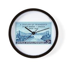 Cute Niagra falls new york Wall Clock
