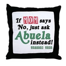 Just Ask Abuela! Throw Pillow