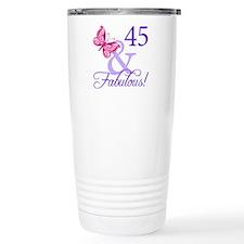 45 And Fabulous Birthday Gifts Travel Mug