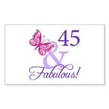 45 And Fabulous Birthday Gifts Decal
