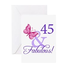 45 And Fabulous Birthday Gifts Greeting Card