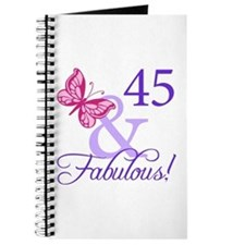 45 And Fabulous Birthday Gifts Journal
