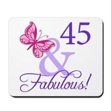 45 And Fabulous Birthday Gifts Mousepad