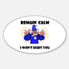 REMAIN CALM Oval Decal