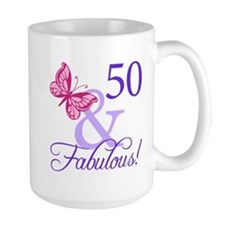 50 And Fabulous Birthday Gifts Mug