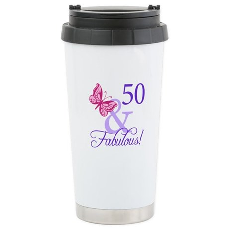 50 And Fabulous Birthday Gifts Stainless Steel Tra