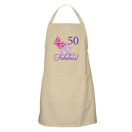 50 And Fabulous Birthday Gifts Apron