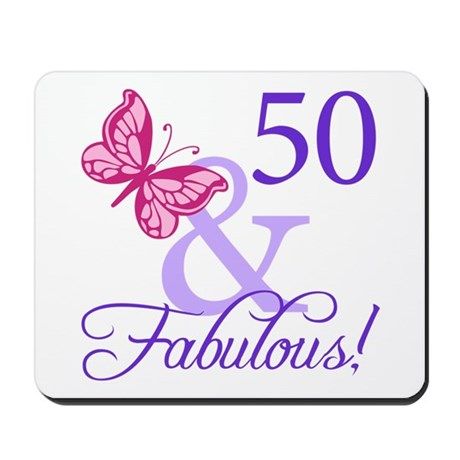 50 And Fabulous Birthday Gifts Mousepad
